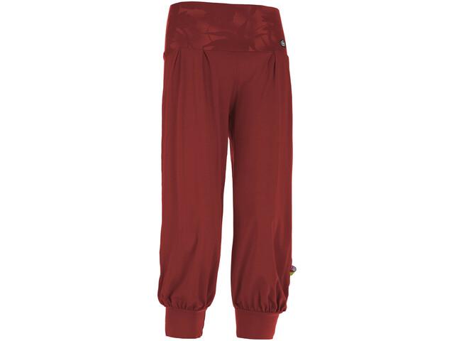 E9 Luna Pantalones 3/4 Mujer, wine